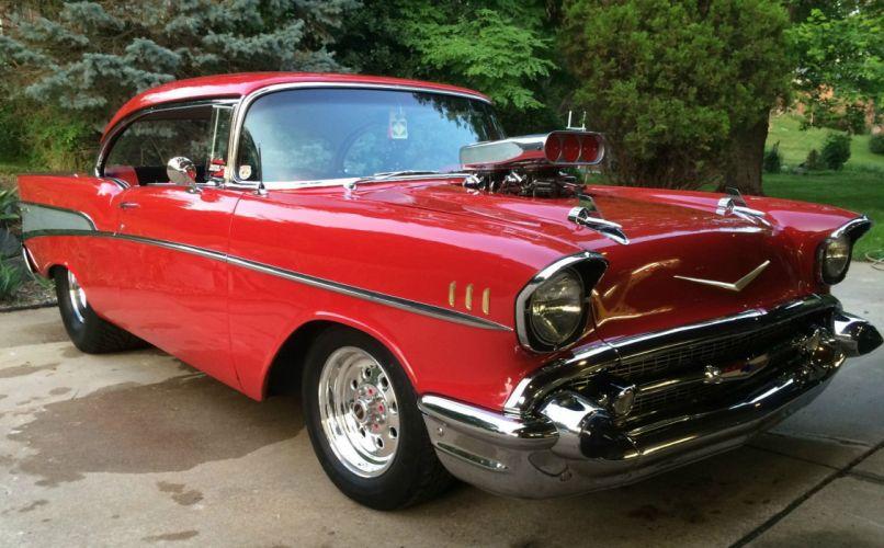 1957 Chevrolet Bel Air custom hot rod rods f wallpaper