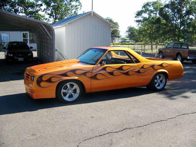 1986 Chevrolet El Camino Pickup custom hot rod rods f wallpaper