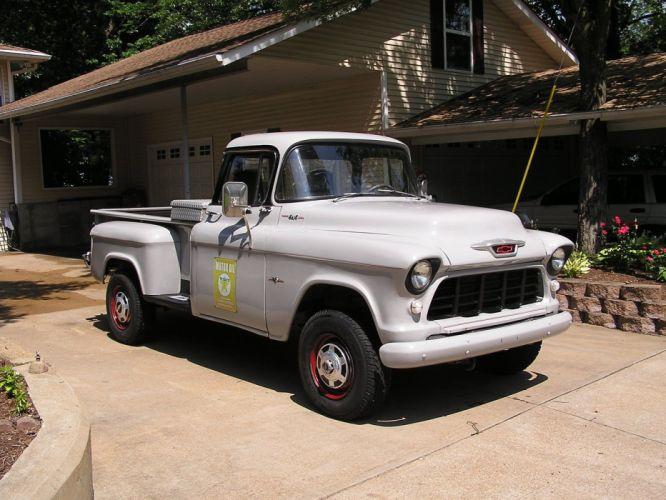 1955 Chevrolet Pickup 2500 gasser 4x4 custom hot rod rods f wallpaper
