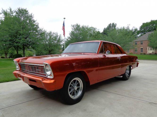 1966 Chevrolet Nova custom hot rod rods f wallpaper