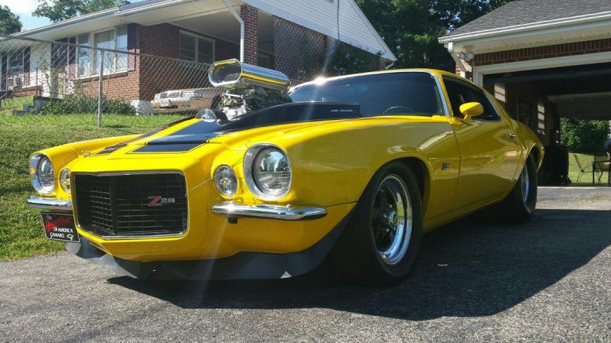 1970 Chevrolet Camaro custom hot rod rods f wallpaper