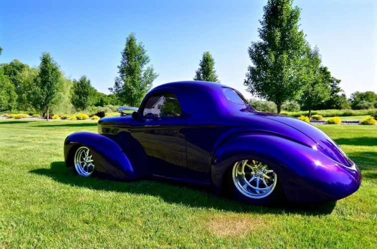 1941 Willys COUPE custom hot rod rods f wallpaper