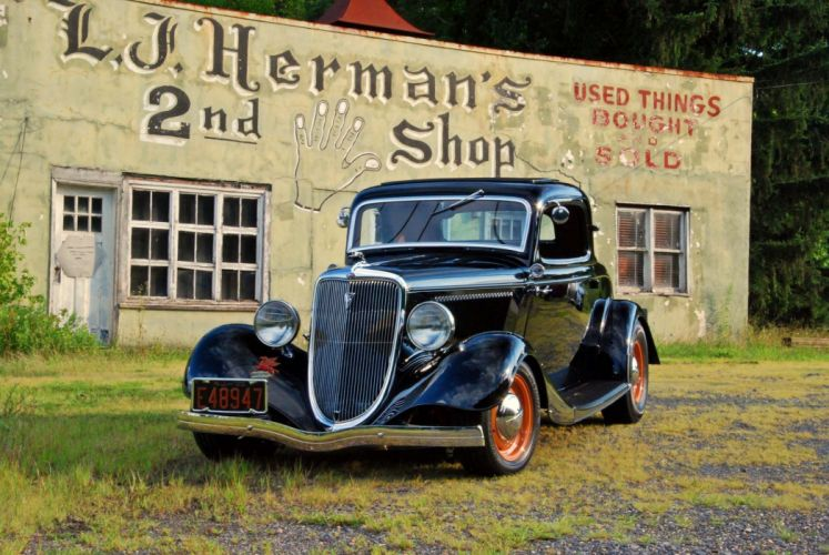 1933 Ford Coupe hot rod rods custom retro vintage wallpaper