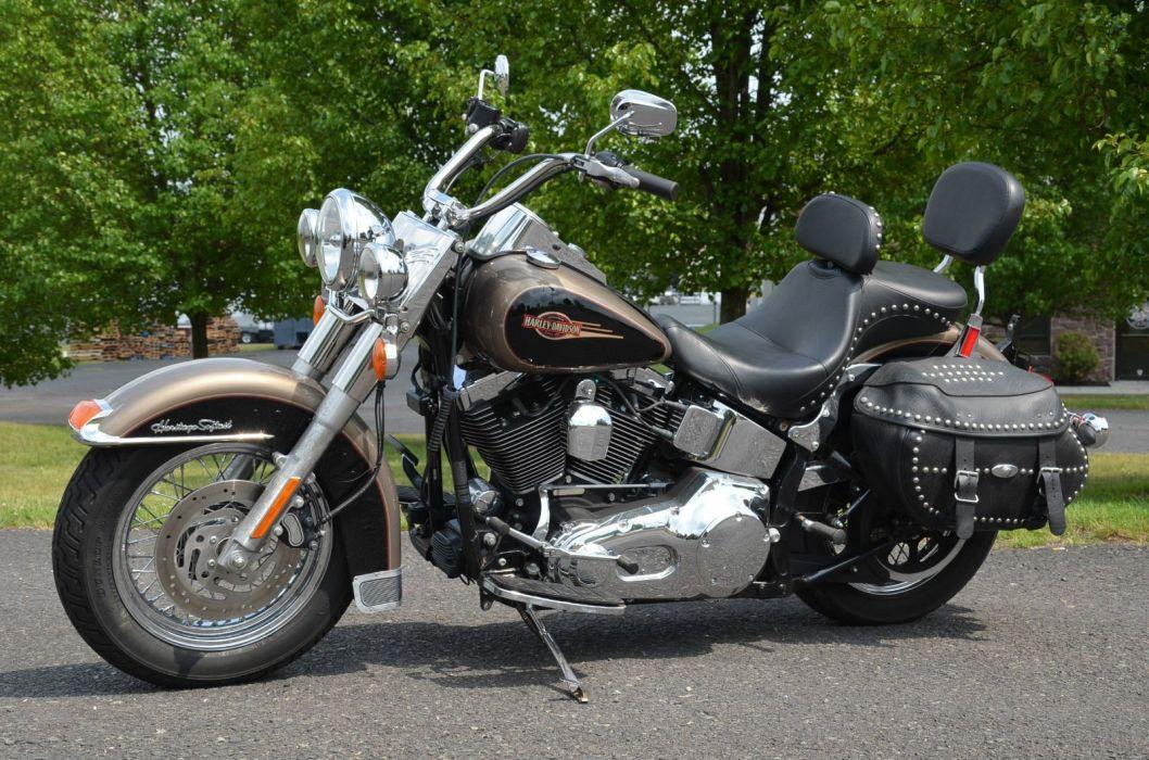 2005 Harley Davidson Heritage Softail Classic FLSTCI bike motorbike motorcycle g wallpaper