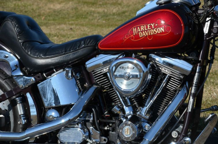 1987 Evolution Harley Davidson Softail Custom FXSTC bike motorbike motorcycle g wallpaper