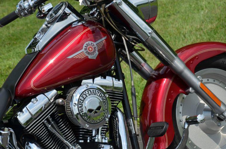 2004 Sierra Red Harley Davidson Softail Fatboy Fat Boy FLSTF bike motorbike motorcycle g wallpaper