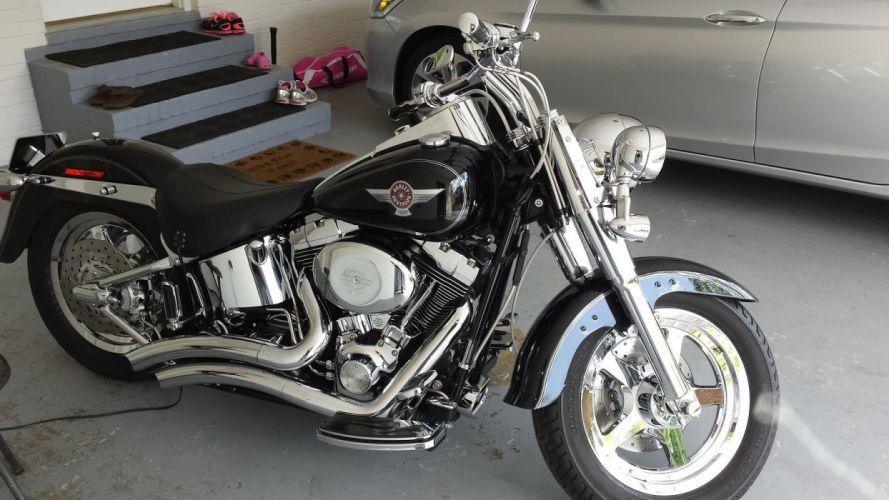 2006 Harley davidson fatboy bike motorbike motorcycle g wallpaper