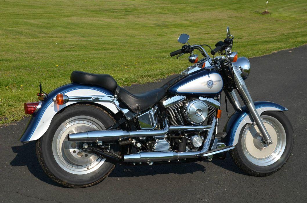 1999 Evolution Harley Davidson Softail Fatboy Fat Boy FLSTF bike motorbike motorcycle g wallpaper