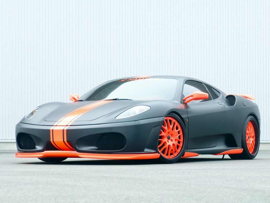 Hamann Ferrari F430 Black Miracle coupe cars modified 2007 wallpaper