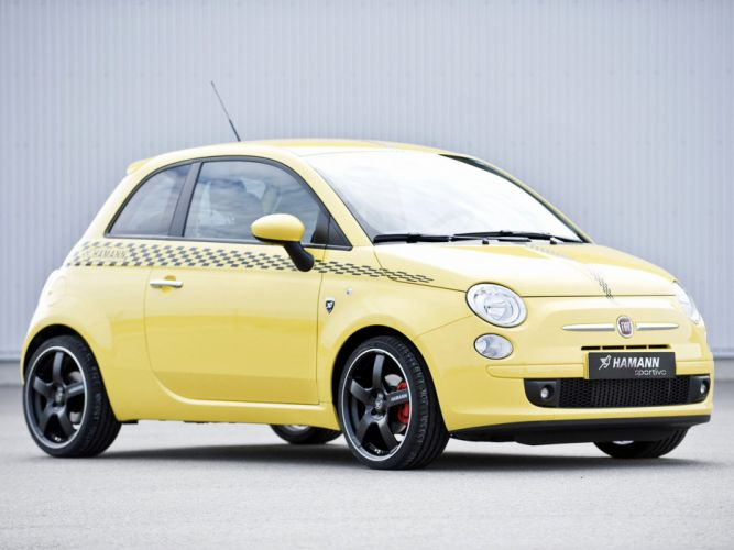 Hamann Fiat 500 cars modified 2008 wallpaper