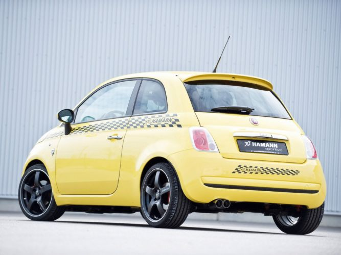 Hamann Fiat 500 cars modified 2008 wallpaper
