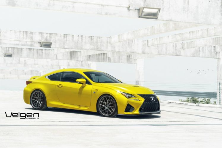 Lexus RC-F Velgen Wheels cars coupe modified wallpaper