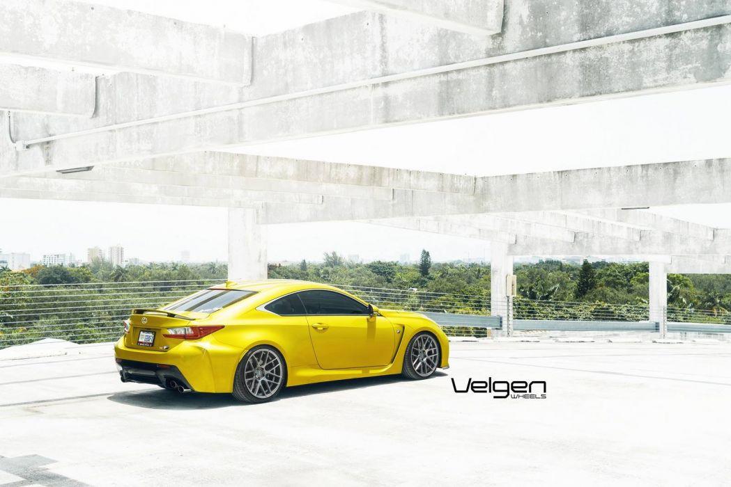 Lexus Rc F Velgen Wheels Cars Coupe Modified Wallpaper