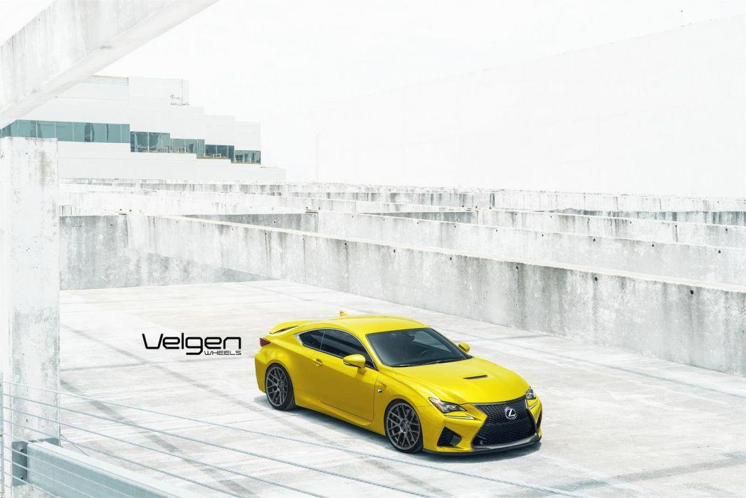 Lexus RC-F Velgen Wheels cars coupe modified wallpaper