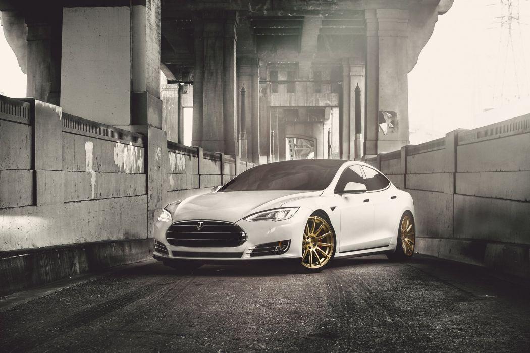 Tesla P85D T-Sportline Wheels cars modified electric wallpaper