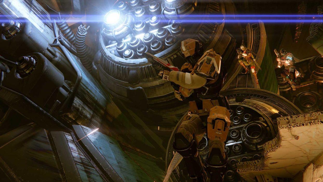 DESTINY sci-fi shooter fps action fighting futuristic mmo rpg artwork warrior wallpaper