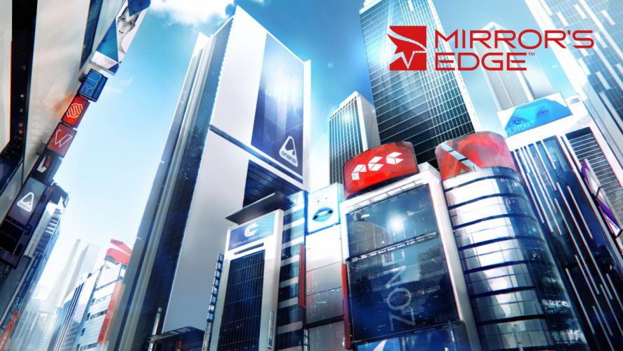 MIRRORS EDGE CATALYST action adventure platform sci-fi futuristic city cities fighting 1mecat warrior girl artwork poster wallpaper