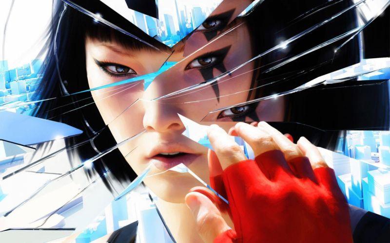 MIRRORS EDGE CATALYST action adventure platform sci-fi futuristic city cities fighting 1mecat warrior girl artwork poster wallpaper