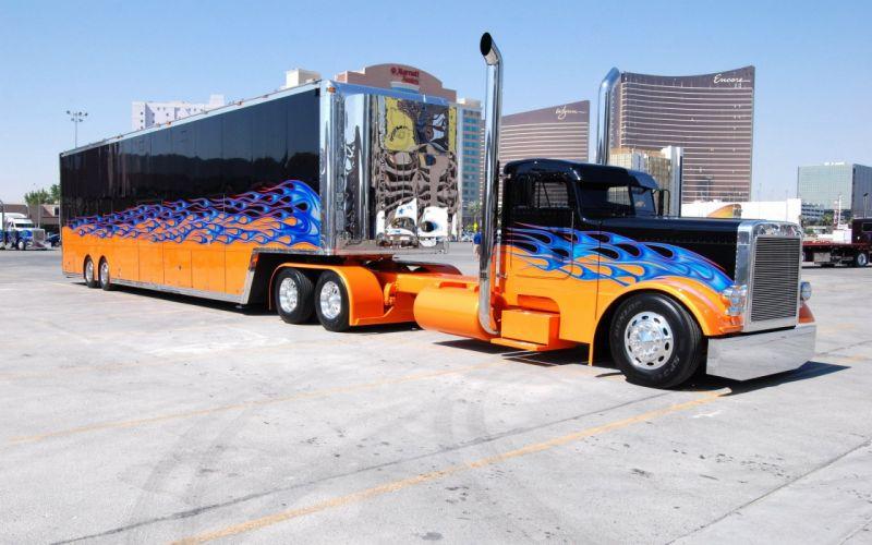 camion remolque carretera wallpaper