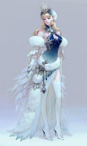 fantasy dress long hair beautiful girl face wallpaper