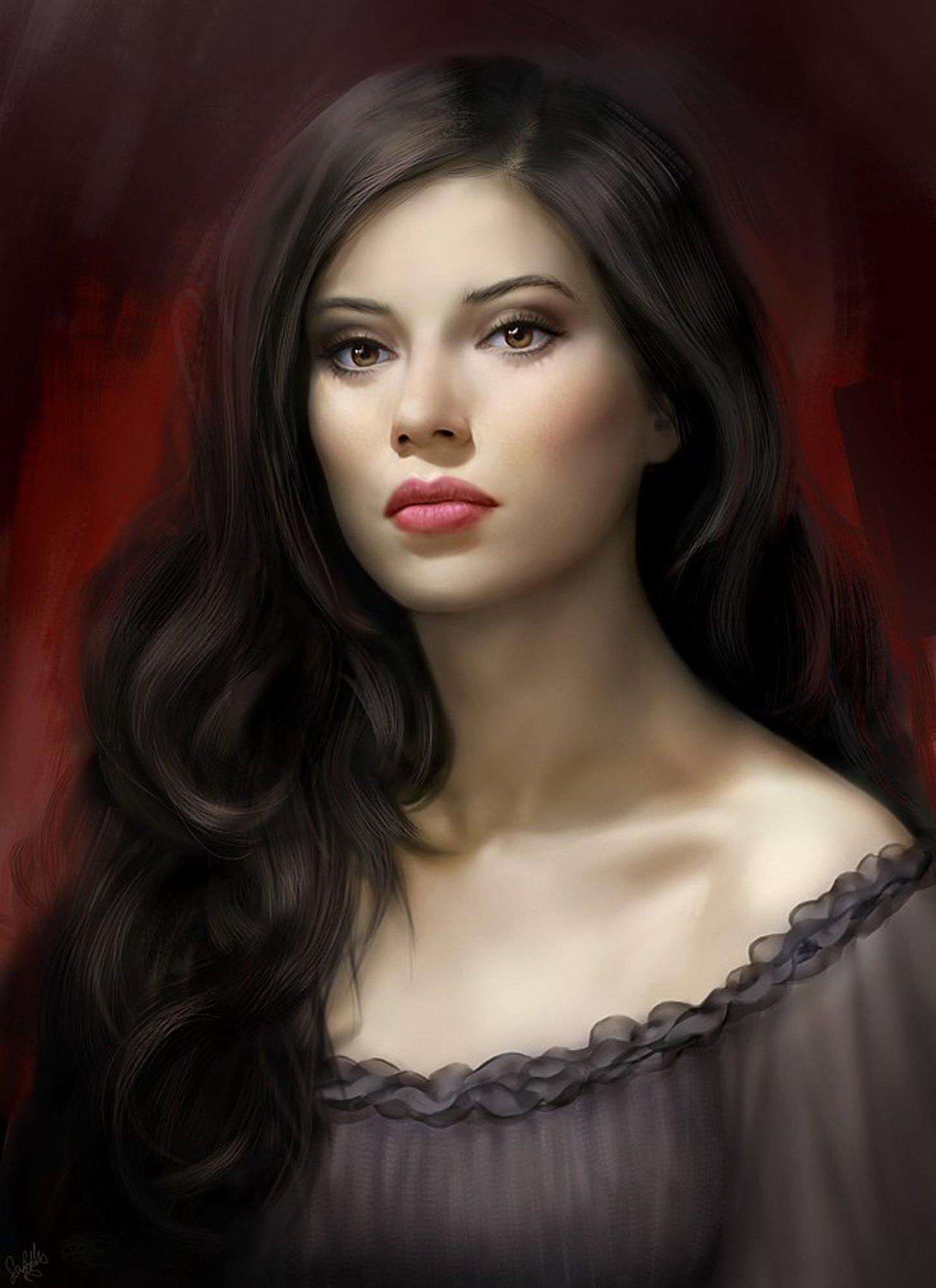 Фото красивые девушки с длинными черными волосами 6 фотография