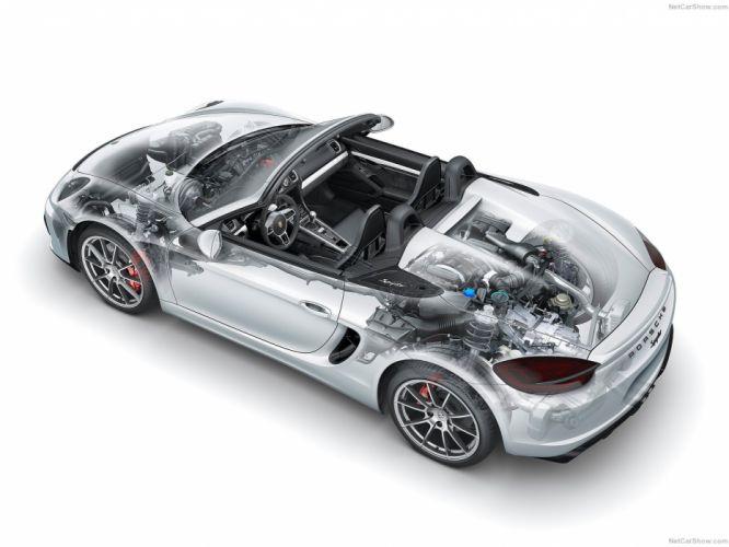 2016 boxster cars Porsche spyder cutaway wallpaper