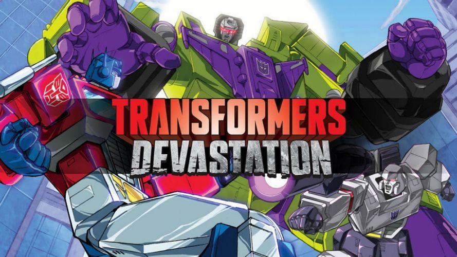 TRANSFORMERS DEVASTATION sci-fi action fighting robot mecha 1tdev warrior poster wallpaper
