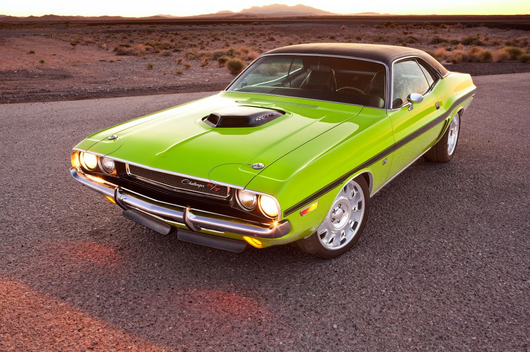 1970 Dodge Challenger hot rod rods custom muscle classic wallpaper