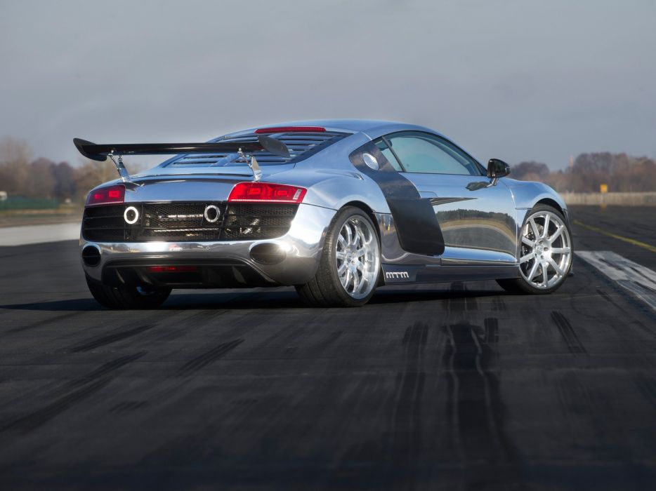 MTM Audi-r8 V10 BiTurbo 2011 chrome cars modified wallpaper