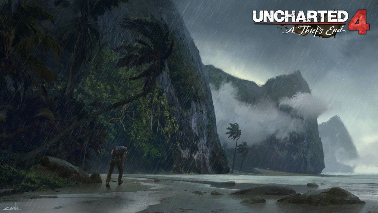 UNCHARTED 4 THIEFS END action adventure tps shooter platform poster wallpaper