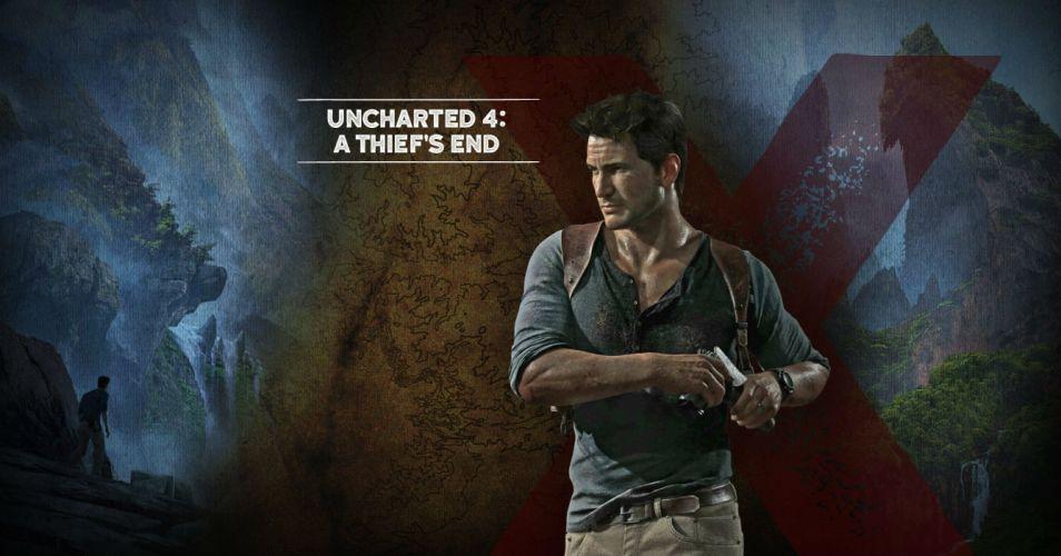 UNCHARTED 4 THIEFS END action adventure tps shooter platform poster wallpaper