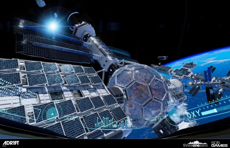 ADR1FT space adventure survival spaceship astronaut futuristic wallpaper
