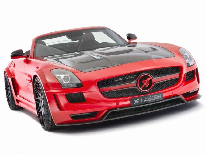 Hamann Mercedes-Benz SLS-63 AMG Hawk Roadster cars modified 2012 wallpaper
