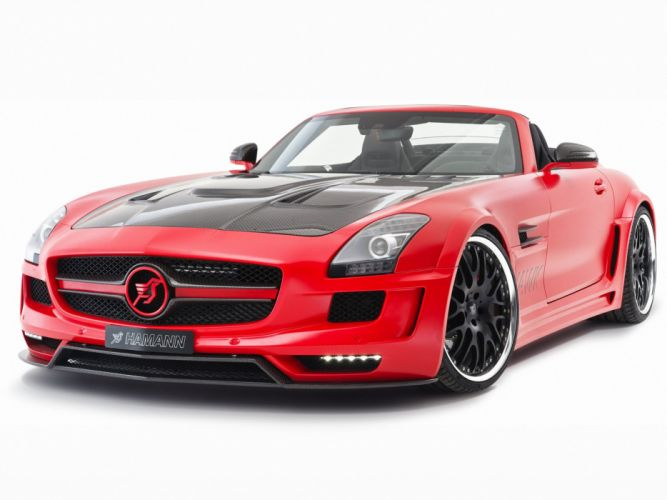 Hamann Mercedes-Benz SLS-63 AMG Hawk Roadster cars modified 2012 wallpaper