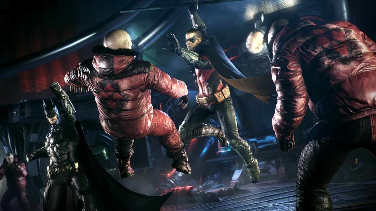 BATMAN ARKHAM KNIGHT superhero dark action adventure fighting shooter wallpaper