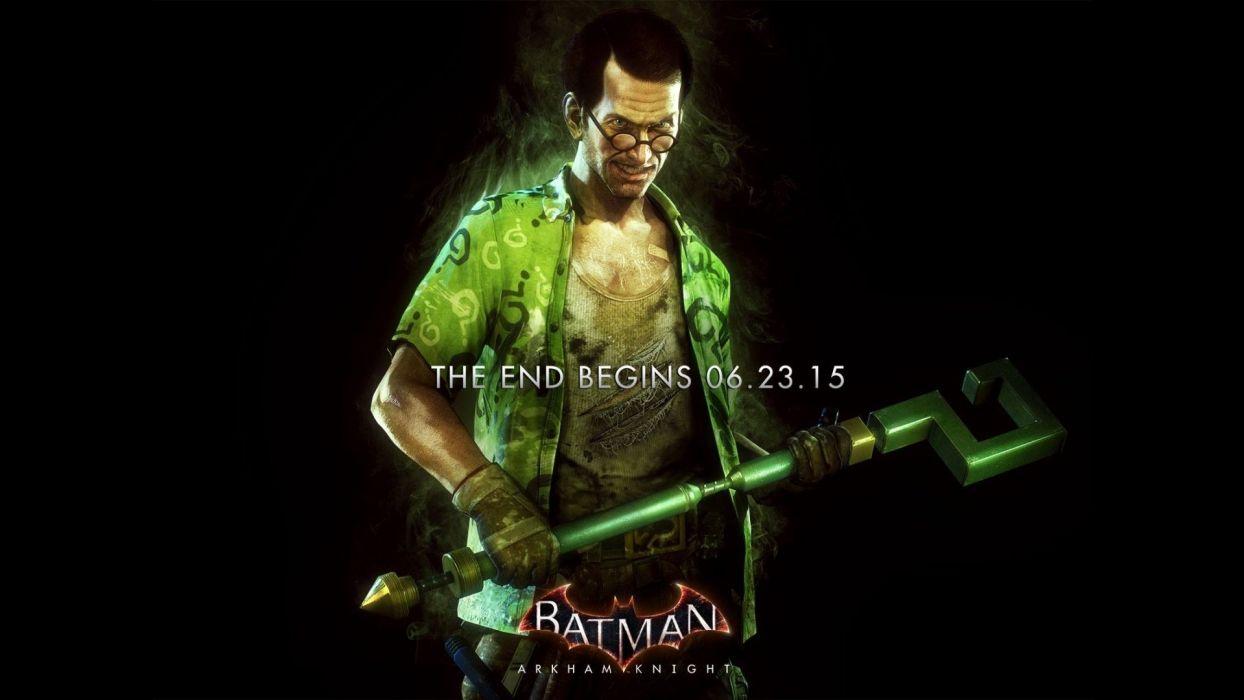 BATMAN ARKHAM KNIGHT superhero dark action adventure fighting shooter poster wallpaper