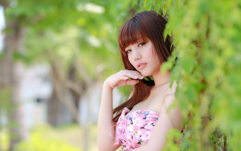 mood women woman female girl girls model oriental asian f wallpaper