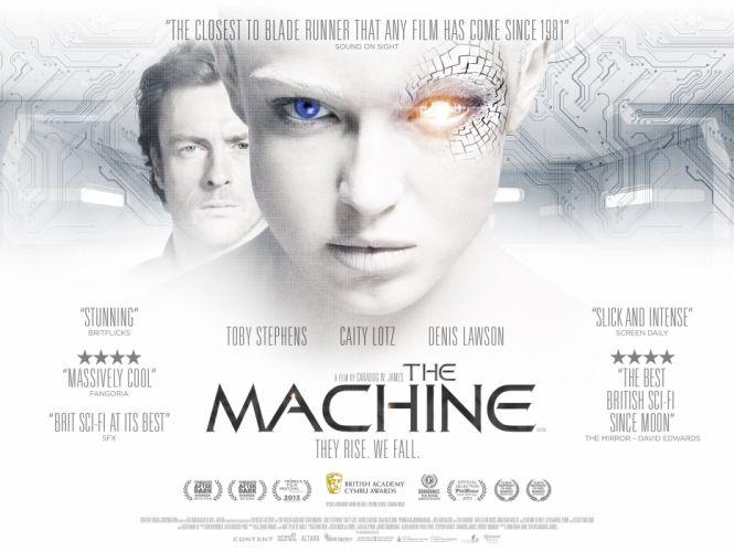 MACHINE sci-fi futuristic thriller robot cyborg 1tmach poster wallpaper