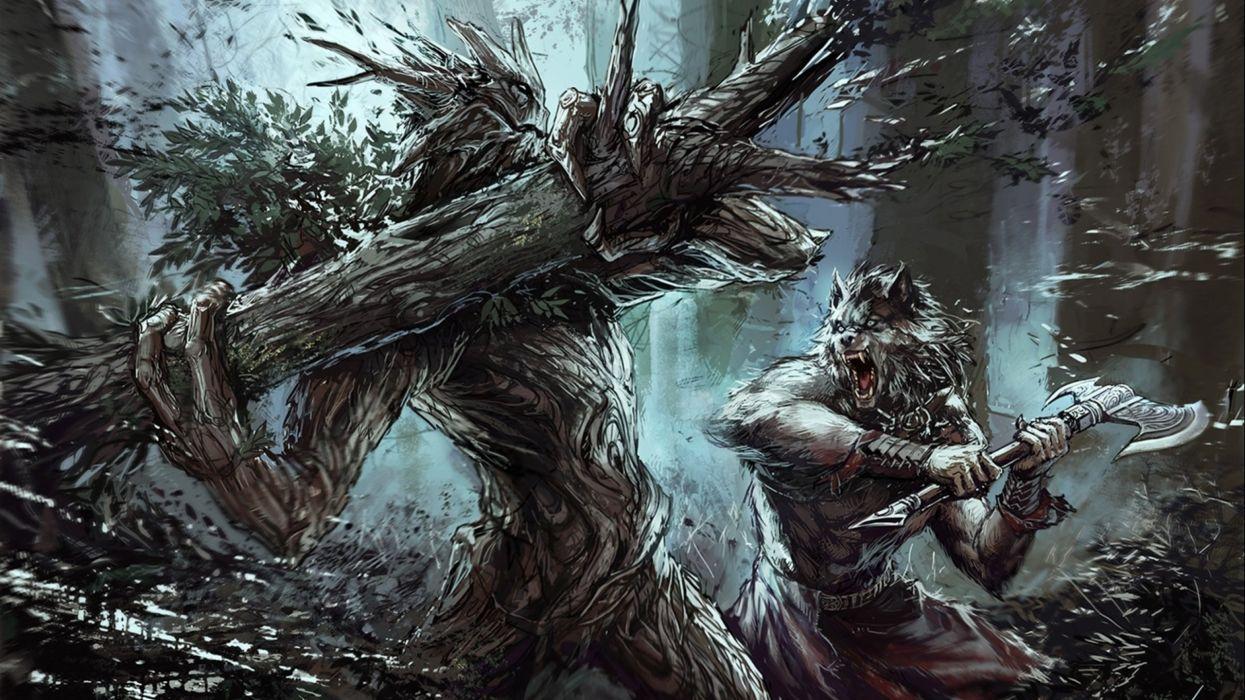 fantasy artwork warrior wallpaper