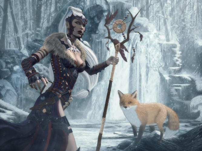 fantasy artork witch wizard sorcerer magic wallpaper