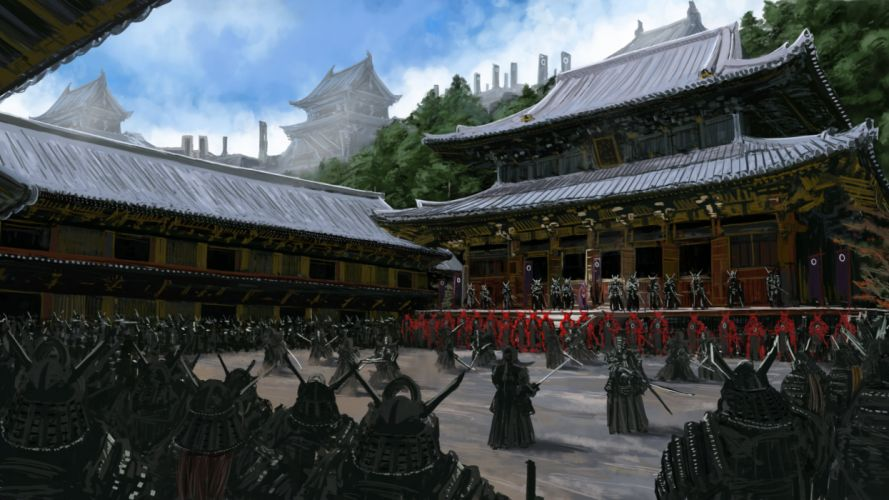 samurai warrior fantasy artwork oriental asian g wallpaper
