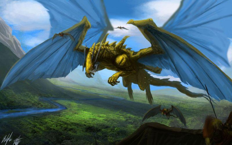 fantasy artwork creature dragon wallpaper