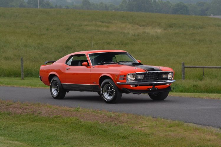 1970 Ford Mustang Mach-1 428 Super Cobra Jet cars muscle wallpaper