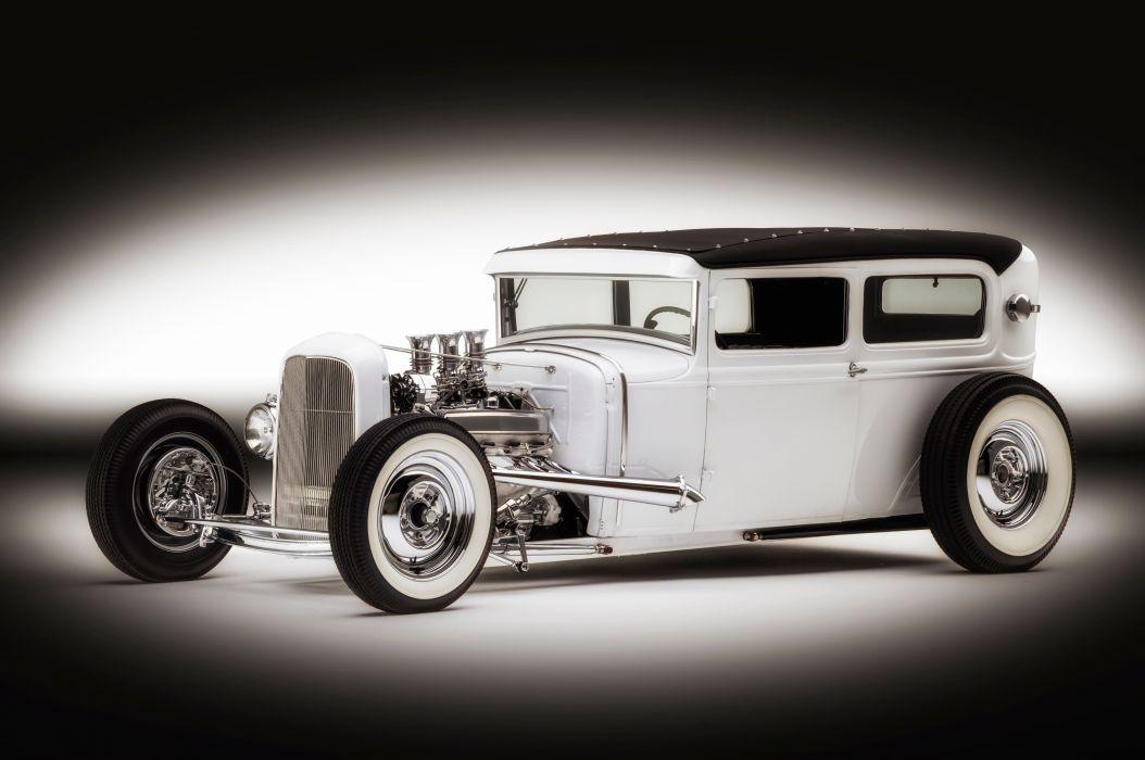 1930 Ford Tudor hot rod rods custom retro vintage f wallpaper
