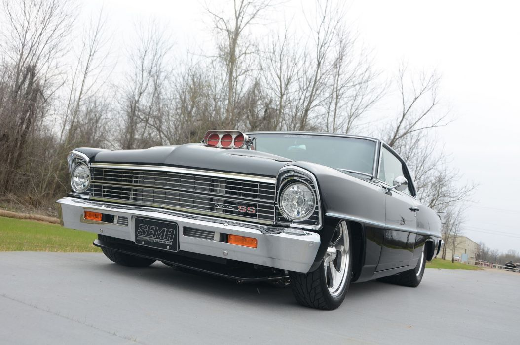 1967 Chevrolet Chevy II hot rod rods custom muscle classic drag racing race d wallpaper