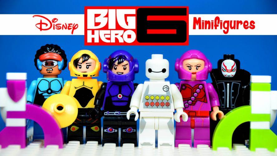 BIG-HERO-6 animation action adventure disney robot superhero big hero futuristic poster lego wallpaper