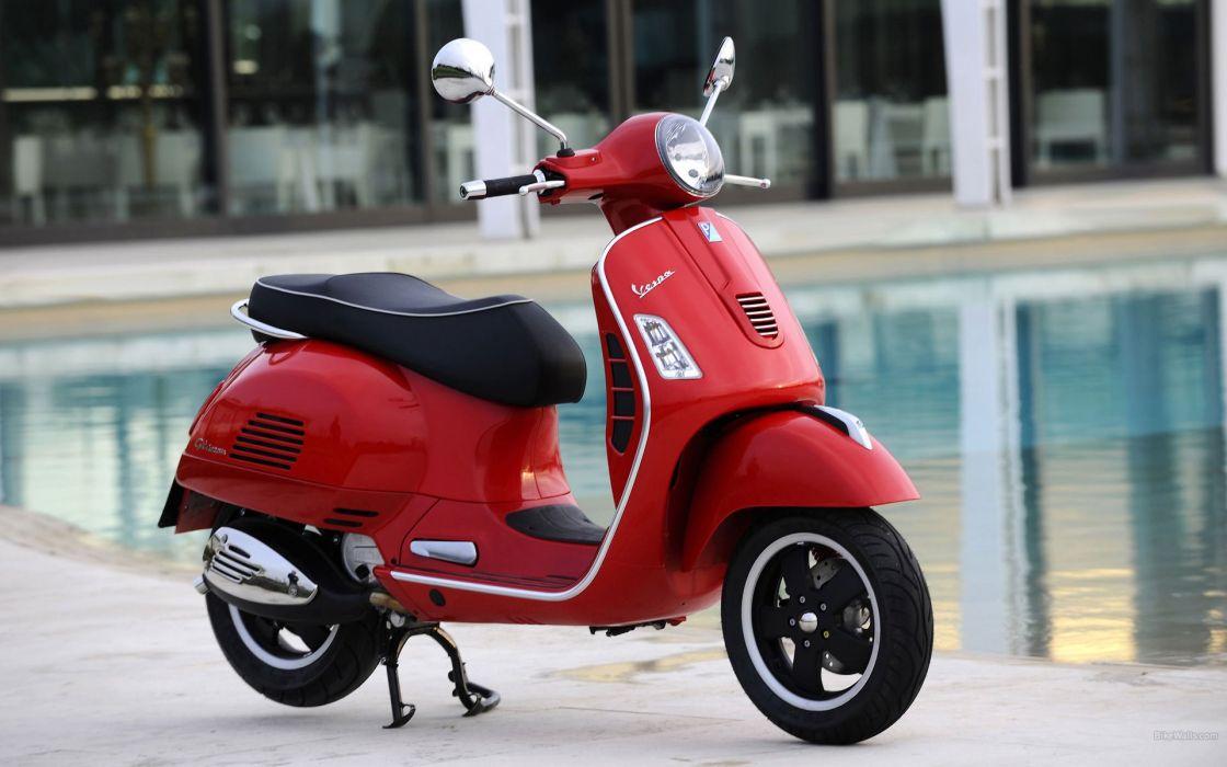 moto vespa roja wallpaper