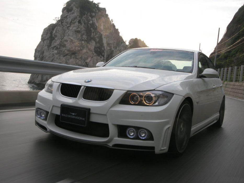 WALD INTERNATIONAL BMW 3-Series Sedan Sports Line Aero Kit (E90) 2008 cars modified 2008 wallpaper