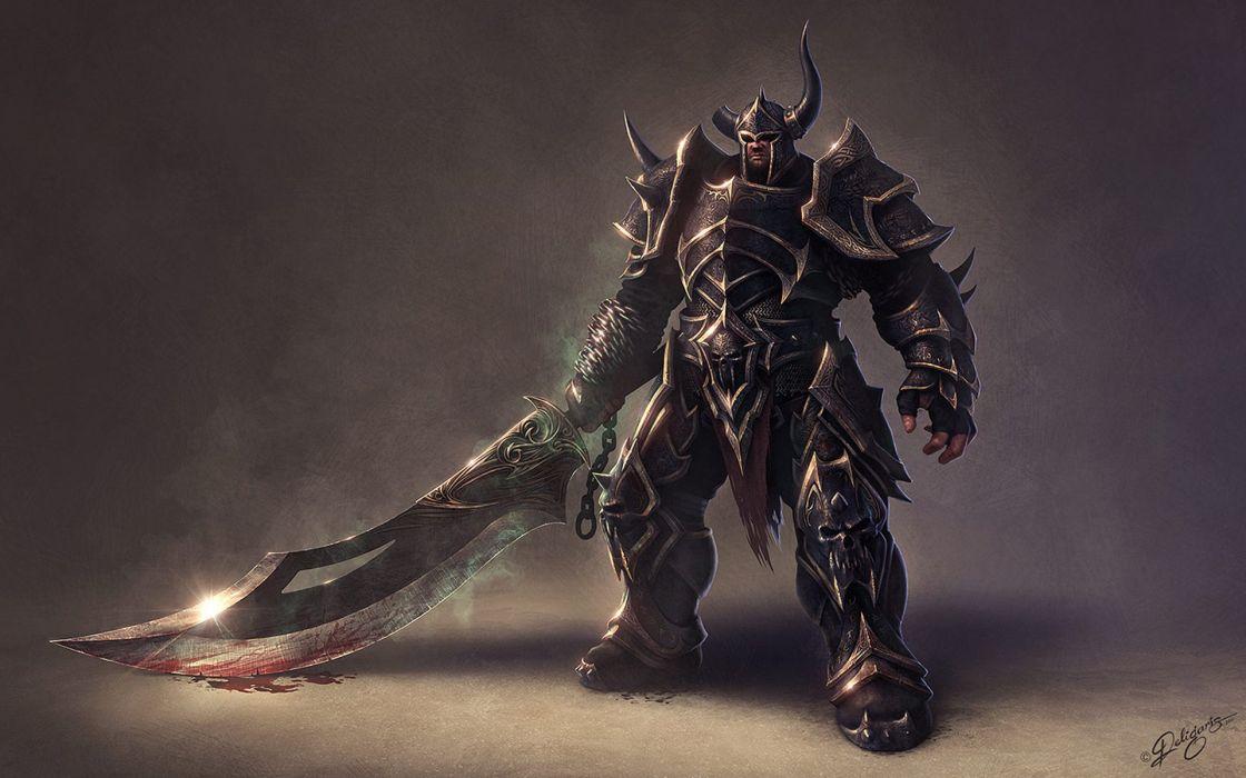 Arts horns sword ultimate fighter deligaris armor warrior weapons wallpaper