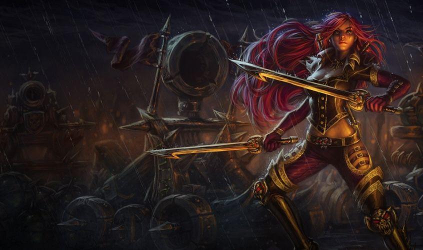 Arts league of legends the rain sword catapult weapons girls wallpaper